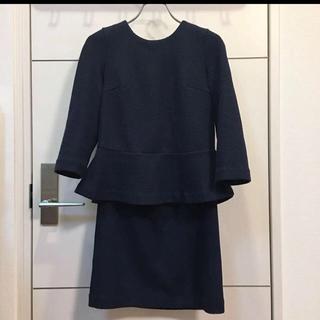 ユナイテッドアローズ(UNITED ARROWS)のネイビーセットアップ スカート ユナイテッドアローズ(スーツ)