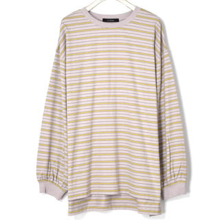 ダブルクローゼット(w closet)のw closet ボーダー Tシャツ(Tシャツ(長袖/七分))