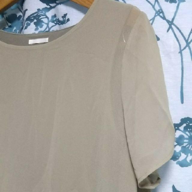GU(ジーユー)のシフォントップス レディースのトップス(シャツ/ブラウス(半袖/袖なし))の商品写真