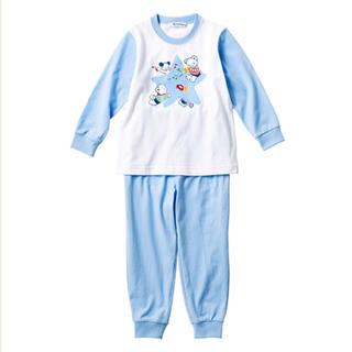 familiar - ☆ファミリア ファミちゃん柄 長袖 パジャマ 120㎝ ブルー☆