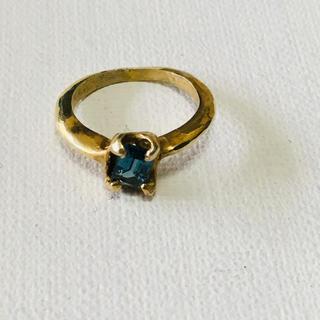 ロンドンブルートパーズ7号美品(リング(指輪))