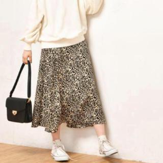 ナチュラルクチュール(natural couture)のヒョウ柄フレアスカート(ロングスカート)