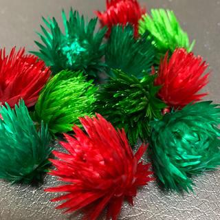 ミニシルバーデージー クリスマスカラー 8輪 ハーバリウム花材(ドライフラワー)