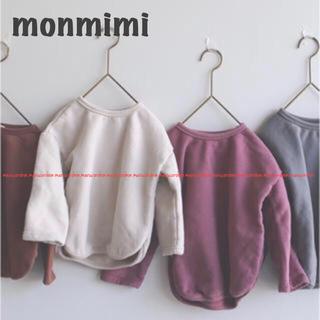 コドモビームス(こどもビームス)のモンミミ monmimi 韓国子供服 スウェット スエット ベージュ ザラベビー(トレーナー)