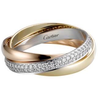 カルティエ(Cartier)のカルティエ トリニティリング ダイヤ(リング(指輪))