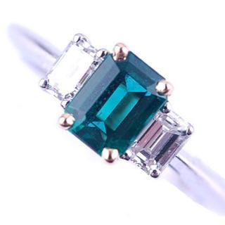 ティファニー(Tiffany & Co.)のTIFFANY&Co. ティファニー リング エメラルド ダイヤモンド 指輪(リング(指輪))
