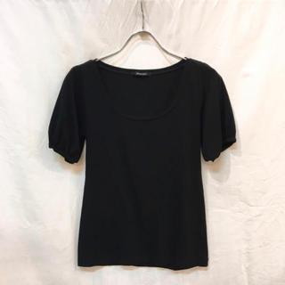 ローズバッド(ROSE BUD)のROSE BUD ローズバッド パフスリーブTシャツ ブラック 美品(Tシャツ(半袖/袖なし))