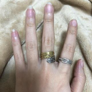 ゴローズ(goro's)の美品 ゴローズ goro's レディース ゴールド&シルバー リング 指輪(リング(指輪))