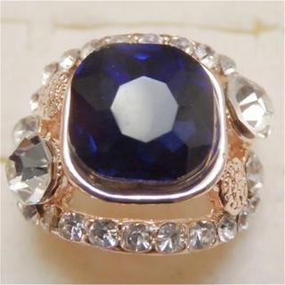 即購入OK*訳ありラインストーンのピンクゴールド指輪大きいサイズC32(リング(指輪))