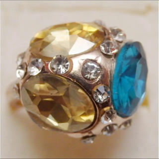 即購入OK*訳ありラインストーンのピンクゴールド指輪大きいサイズC28(リング(指輪))