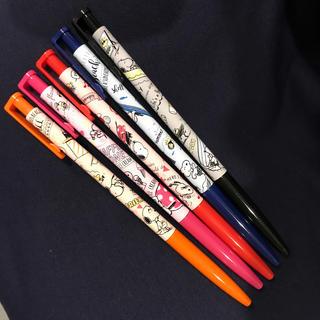 サンスター(SUNSTAR)の新品 スヌーピー スリムゲルペン 5色セット(ペン/マーカー)