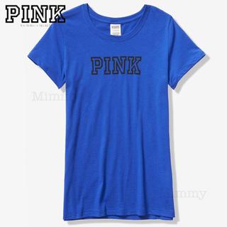 ヴィクトリアズシークレット(Victoria's Secret)のPINK♡エブリデイ Tシャツ♡ブルー(Tシャツ(半袖/袖なし))