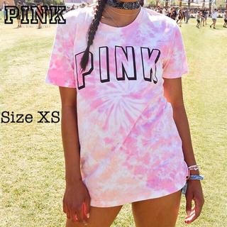 ヴィクトリアズシークレット(Victoria's Secret)のPINK♡キャンパス スリーブTシャツ♡フローレス タイダイ(Tシャツ(半袖/袖なし))