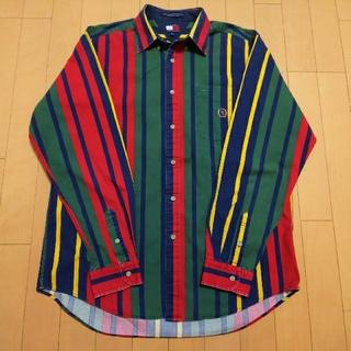 トミーヒルフィガー(TOMMY HILFIGER)の90s TOMMY HILFIGER ストライプシャツ(シャツ/ブラウス(長袖/七分))