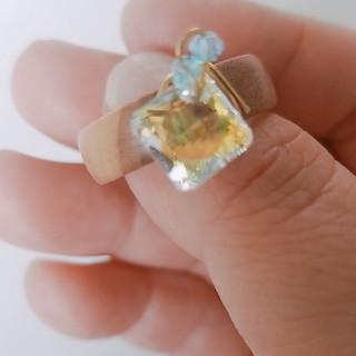 スワロフスキー ウッドリング(リング(指輪))