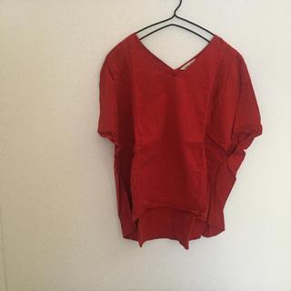 サマンサモスモス(SM2)のSM2 赤 トップス(カットソー(半袖/袖なし))
