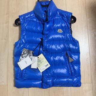 モンクレール(MONCLER)のMONCLER モンクレールダウンベストtib735ブルー極上美品(ダウンジャケット)