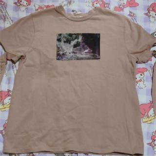 イートミー(EATME)のベルトスリーブグラフィックTシャツ(Tシャツ(半袖/袖なし))