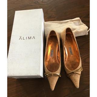 ALIMA - アリマALIMA ツイードリボンパンプス