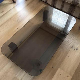 オオツカカグ(大塚家具)のガラス テーブル テレビ台(ローテーブル)