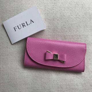 フルラ(Furla)のフルラ FURLA キーケース 新品 ピンク リボン 6連(キーケース)
