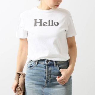 マディソンブルー(MADISONBLUE)の【MADISON BLUE】HELLO SHORT SLEEVE TEE/01(Tシャツ/カットソー(半袖/袖なし))