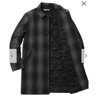 シュプリーム(Supreme)のSupreme  Shadow Plaid Wool Over Coat (ステンカラーコート)