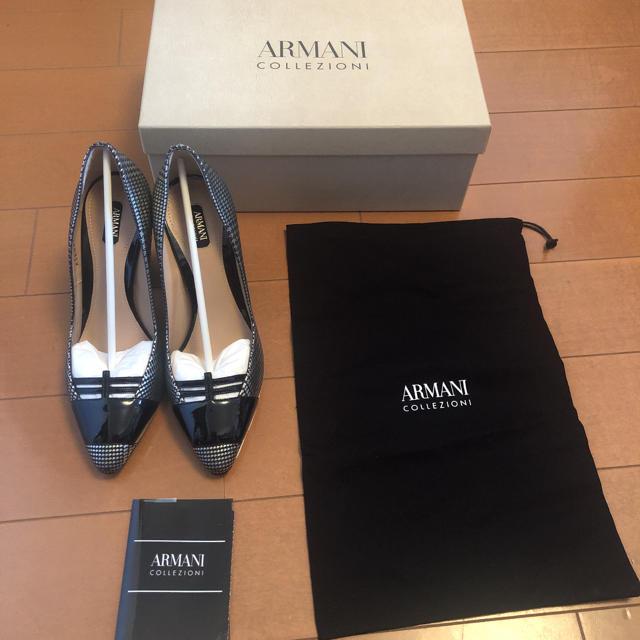 ARMANI COLLEZIONI(アルマーニ コレツィオーニ)の【値下げ】 ARMANI ハイヒール(イタリア産) レディースの靴/シューズ(ハイヒール/パンプス)の商品写真