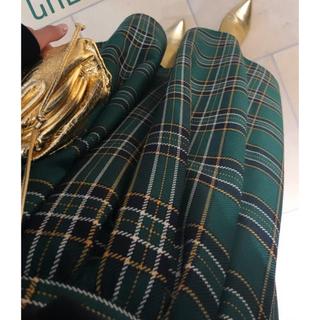 チェスティ(Chesty)の期間限定値下げ Check tuck skirt green(ロングスカート)