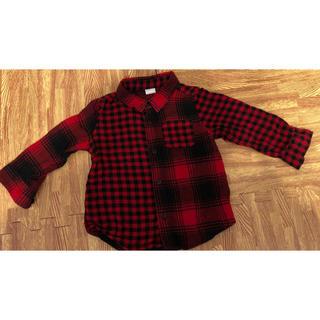 【GAP】赤チェックシャツ /サイズ:90cm