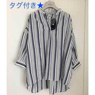しまむら - 未使用 バックリボンチュニックシャツ L