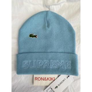 シュプリーム(Supreme)のSupreme®/LACOSTE Beanie  Light Blue(ニット帽/ビーニー)