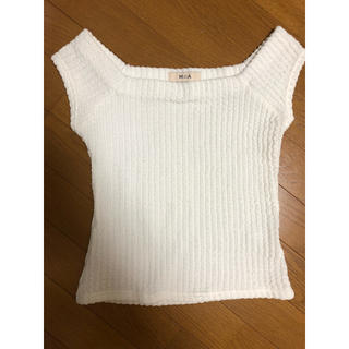 ミーア(MIIA)のミーア  新品未使用  トップス  白  ホワイト  カットソー(カットソー(半袖/袖なし))