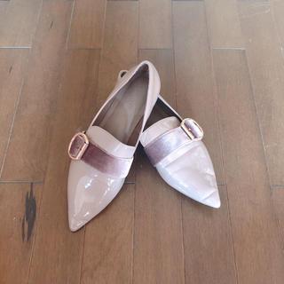ランダ(RANDA)のRANDA ベロア ベージュ ローファー(ローファー/革靴)