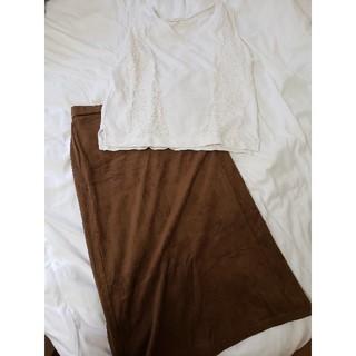 マーキュリーデュオ(MERCURYDUO)のMERCURYDUOトップス+GU膝丈タイトスカート(セット/コーデ)