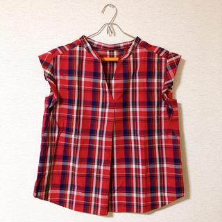 ジーユー(GU)のGU ギンガムチェック柄シャツ(シャツ/ブラウス(半袖/袖なし))