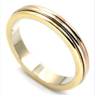 カルティエ(Cartier)のカルティエ Cartior K18 750 指輪 リング スリーカラー(リング(指輪))