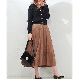 ナチュラルクチュール(natural couture)のナチュラルクチュール 消しプリーツスカート ブラウン ロングスカート(ロングスカート)
