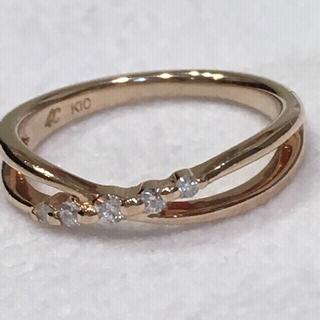 ヨンドシー(4℃)の4°C 10Kピンキーリング2号(リング(指輪))