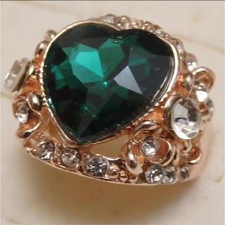 即購入OK*訳ありラインストーンのピンクゴールド指輪大きいサイズC30(リング(指輪))