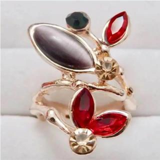即購入OK*訳ありカラフルストーンのゴージャスピンクゴールド指輪大きいサイズ(リング(指輪))