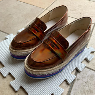 エスペランサ(ESPERANZA)のエスペランサ グリッター厚底ローファー(ローファー/革靴)