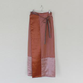 ドリスヴァンノッテン(DRIES VAN NOTEN)のDries Van Noten/ドリスヴァンノッテン/ブランケットラップスカート(ロングスカート)