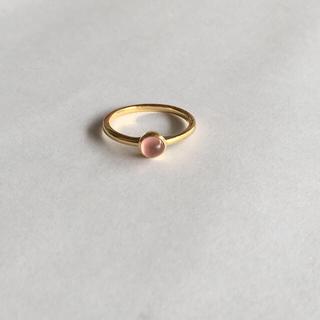 ヨンドシー(4℃)の値下げ❗️K18インカローズピンキーリング(リング(指輪))