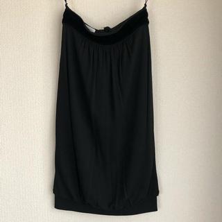サンローラン(Saint Laurent)のサンローラン ウエストリボン コクーンスカート(ひざ丈スカート)