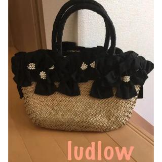 ラドロー(LUDLOW)のludlow ラドロー カゴバッグ ハンドバッグ(かごバッグ/ストローバッグ)