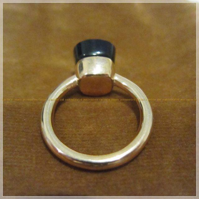 大粒 天然石 キャンディ リング ゴールド ブルー レディースのアクセサリー(リング(指輪))の商品写真