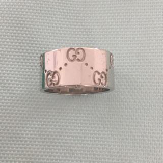 グッチ(Gucci)のGUCCI アイコンリング K18 ホワイトゴールド(リング(指輪))