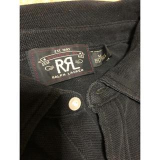 ダブルアールエル(RRL)のRRL ブラックインディゴ ポロシャツ Mサイズ(ポロシャツ)