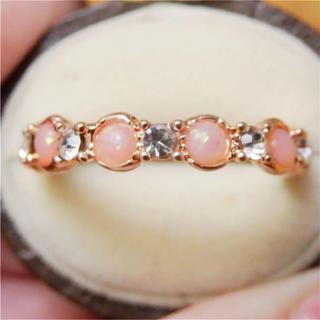 即購入OK*オパールのようなピンクゴールドリング指輪(リング(指輪))